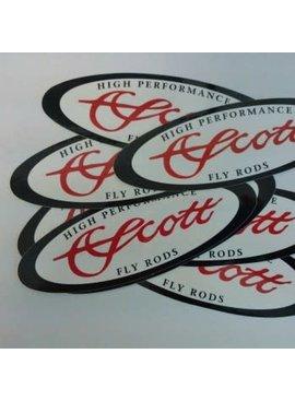 Scott SCOTT FLY ROD OVAL DECAL