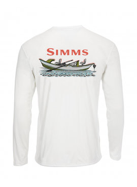 Simms Fishing Products SIMMS MEN'S SOLAR TECH TEE LONG SLEEVE SIMMS DRIFT WHITE