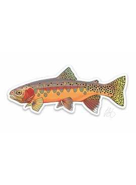 CASEY UNDERWOOD Golden Trout Decal by Casey Underwood