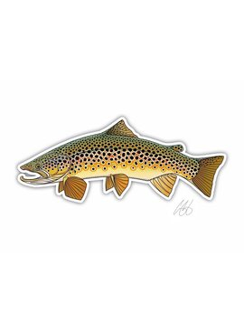 CASEY UNDERWOOD Brown Trout Decal by Casey Underwood