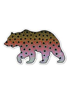 CASEY UNDERWOOD Bear Rainbow Decal by Casey Underwood