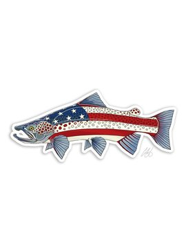 CASEY UNDERWOOD USA Brown Trout Decal by Casey Underwood