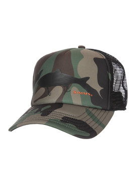 Simms Fishing Products SIMMS THROWBACK TRUCKER WOODAND CAMO