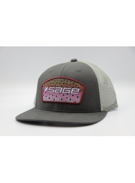 SAGE PATCH TRUCKER RAINBOW CHARCOAL