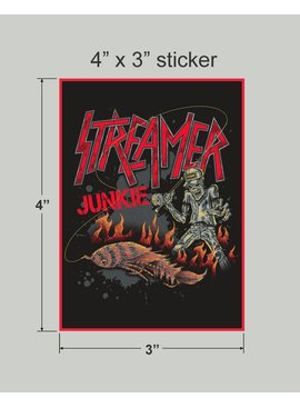 FLYOMING Streamer Junkie Sticker