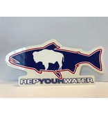 Rep Your Water REP YOUR WATER WYOMING FLAG STICKER