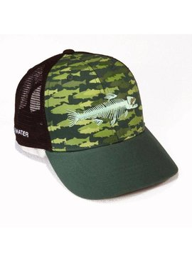 Rep Your Water REP YOUR WATER TROUT CAMO HAT BLACK/GRN OSFM