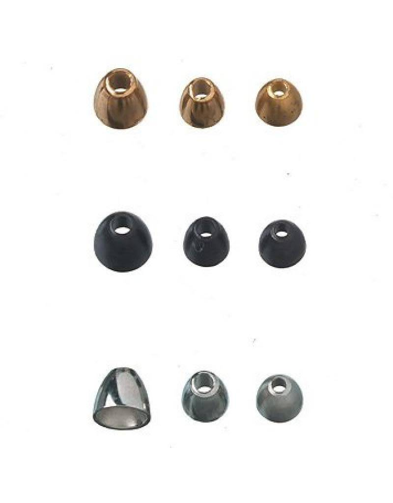 Copper Hareline Fly Tying Cones Black Gold Nickel Beads TUNGSTEN CONEHEADS