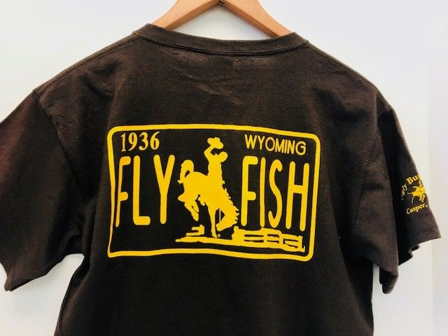 Ugly Bug Fly Shop WYOMING LIC PLATE T SHIRTS