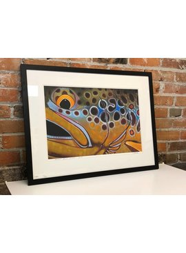 deyoung abstract brown framed