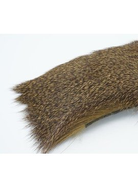 Hareline Dubbin Premo Deer Hair Strip Natural Brown