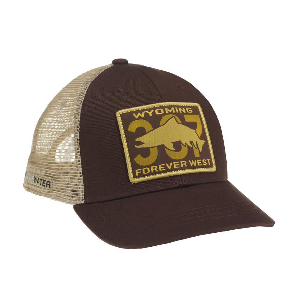 Rep Your Water rep your water WYOMING 307 PATCH HAT