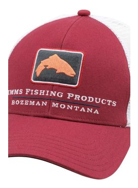Simms Fishing Products SIMMS SMALL FIT TRUCKER HAT RUSTY RED