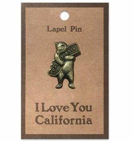 CA Bear Hug Lapel Pin 50% off was $7.95