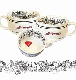 Heart in CA Soup Mug