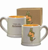 AZ Saguaro Hug Ceramic Mug, Gift Boxed
