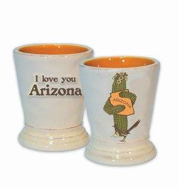 AZ Saguaro Hug Ceramic Shot Glass / Toothpick Holder
