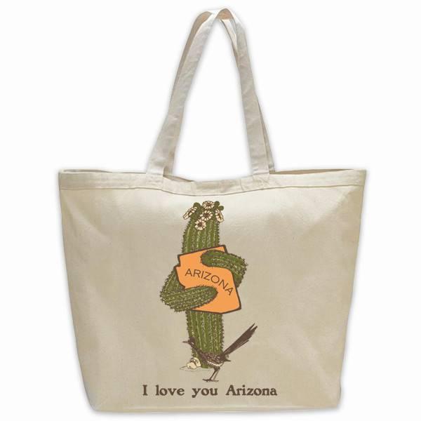 AZ Saguaro Hug Jumbo Tote