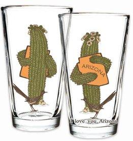 AZ Saguaro Hug Pint Glass