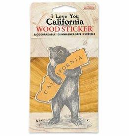 Wooden Sticker, CA Bear Hug