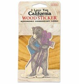Wooden Sticker, CA Movie Bear