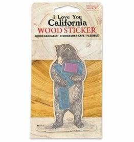 Wooden Sticker, Computer Bear