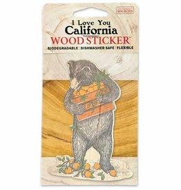 Wooden Sticker, Produce Bear