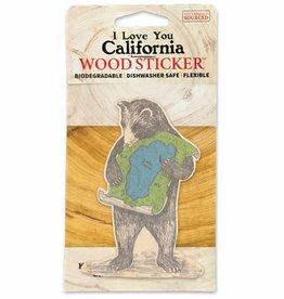 Wooden Sticker, Lake Tahoe Bear