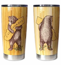 SF Mercantile California Woodgrain Bear Hug Travel Mug