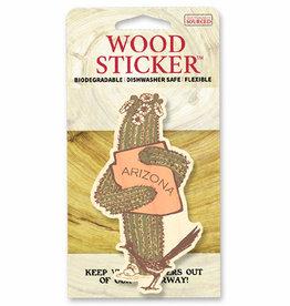 AZ Saguaro Hug Wooden Sticker