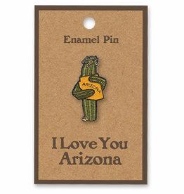 AZ Saguaro Hug Enamel Pin