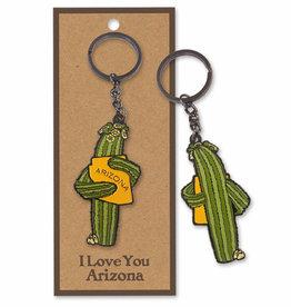 AZ Saguaro Hug Keychain