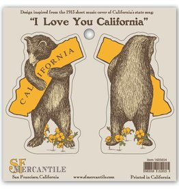 CA Bear Hug Sticker Sheet