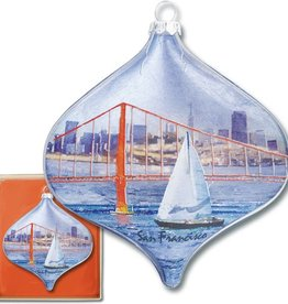 Sailing thru Golden Gate Boxed Ornament