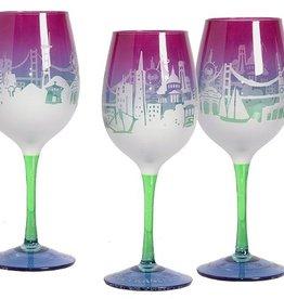SF Twilight Wine Glass