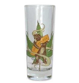 Cannabis CA Bear Hug Shooter / Tall Shot Glass
