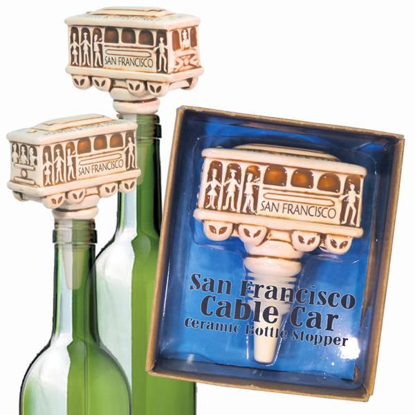 Cable Car Ceramic Bottle Stopper