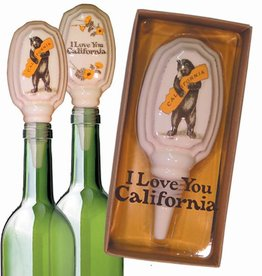CA Bear Hug Ceramic Bottle Stopper