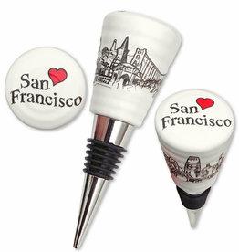 Heart in SF Bottle Stopper