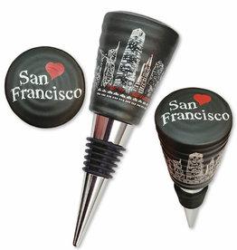 SF Night Skyline Bottle Stopper