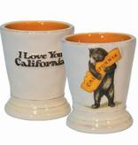 CA Bear Hug Ceramic Shot Glass