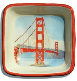 GG Bridge, Watercolor, Small Trinket Tray