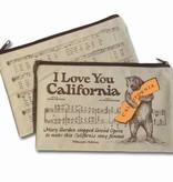 CA Bear Canvas Zipper Pouch