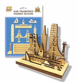 Wooden Laser Cut SF Skyline Model / Puzzle, 9 pc set