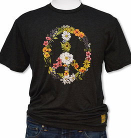 SF Mercantile Disc - Floral Peace Tee, Black Heather, Unisex