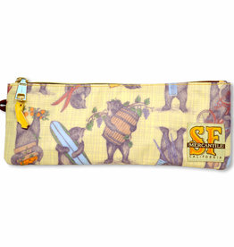 CA Bears Pencil Pouch, laminated fabric