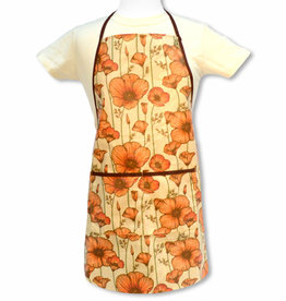 CA Poppy Apron, laminated fabric