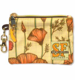 CA Poppy Coin Purse, laminated fabric