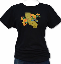 Women's Golden State/Poppy Black Tee