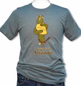 AZ Saguaro Hug Unisex Tee, Heather Slate